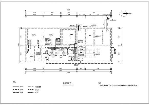 700方生活污水处理及中水回用工程工艺图纸-图二
