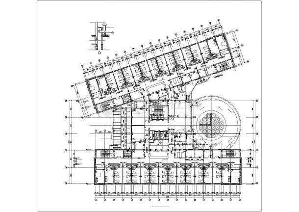 某地索道广场园林绿化设计平面图(全套)-图一
