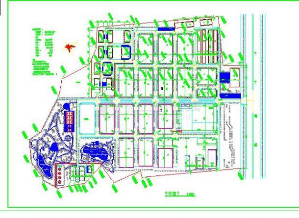德昌工业城建筑总平面图(节点详细)-图一