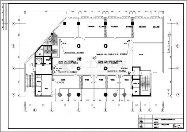 商业办公楼全套电气设计施工CAD图纸方案-图一