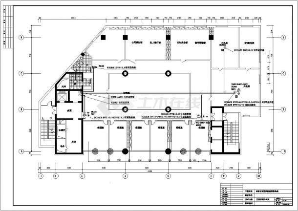 商业办公楼全套电气设计施工CAD图纸方案-图二