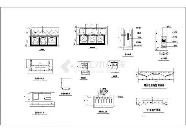 某地小广场园林景观施工图4(共3张)-图一