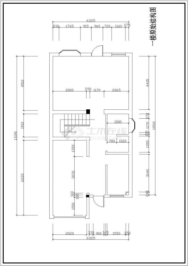 某地区大型三层别墅室内装修图纸(共21张)-图一