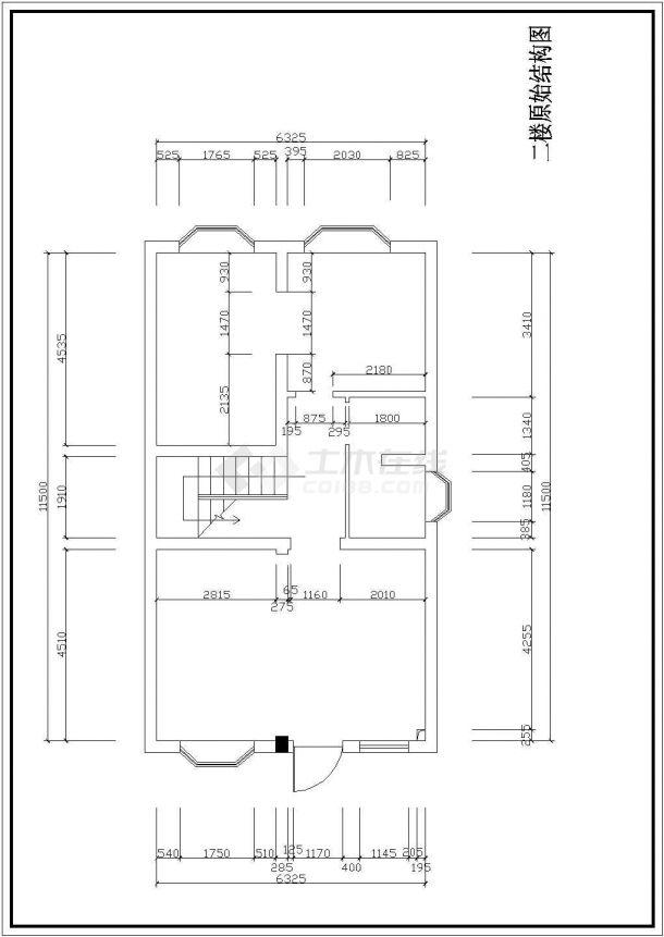 某地区大型三层别墅室内装修图纸(共21张)-图二