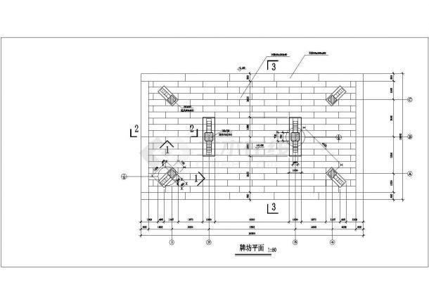 某古建筑牌坊平面设计方案CAD图-图一