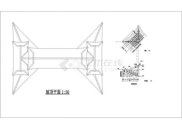 某古建筑牌坊平面设计方案CAD图-图二