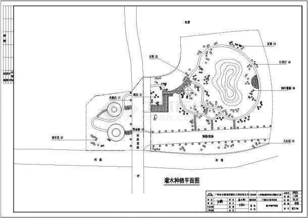 人和镇民强村休闲公园景观植物配置图-图二