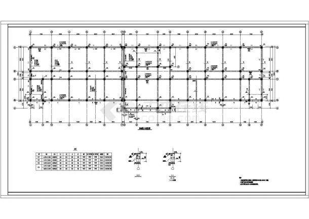 某地学校多层教学楼框架结构设计施工图-图一