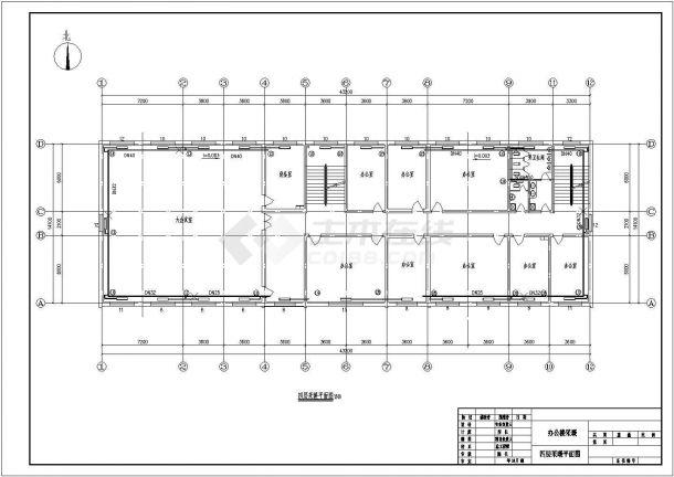 某五层办公楼采暖供热系统设计施工图纸-图一