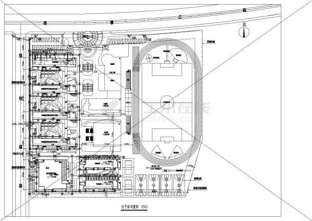某学校室外给排水管网方案总图设计-图二