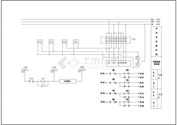一套同期屏、公用屏电气控制原理设计-图一