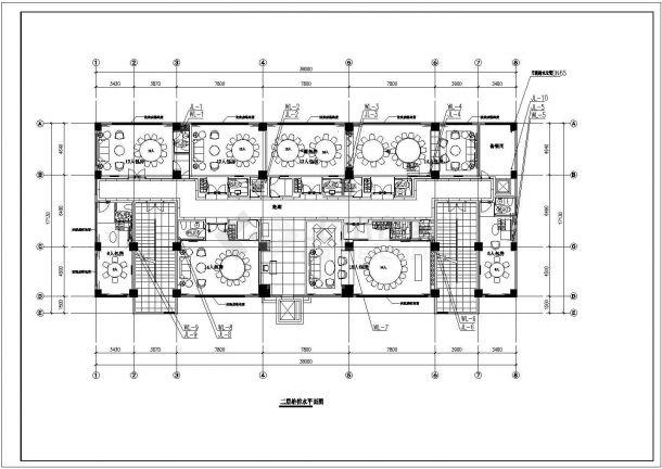 云南某六层砖混结构餐厅给排水施工图-图二