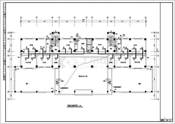 办公楼溴化锂空调cad详细施工方案精美图纸-图二
