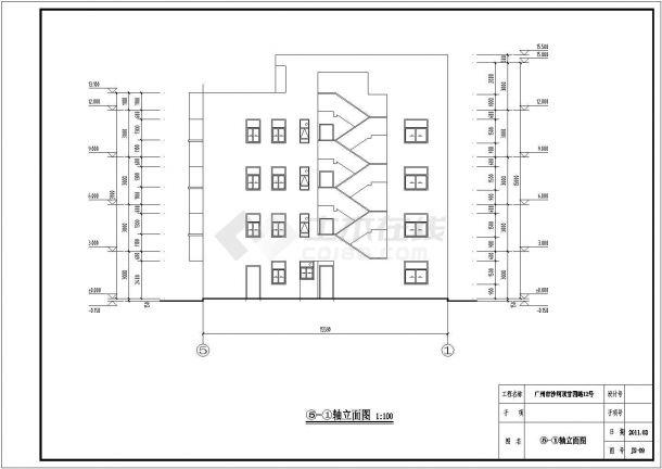 甘园路某5层出租屋商业住宅施工图-图二