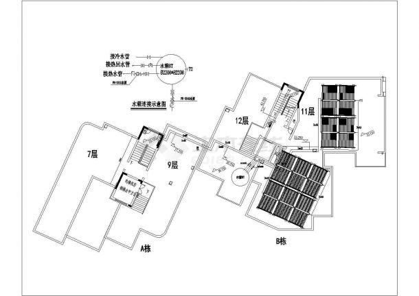 某小区高层住宅楼太阳能水箱设计图-图二