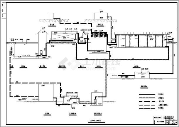 0.8万吨制药厂废水处理全套毕业设计图纸(附带说明书)-图一