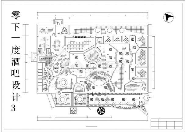 某地酒吧装修设计施工CAD图(共6张)-图二