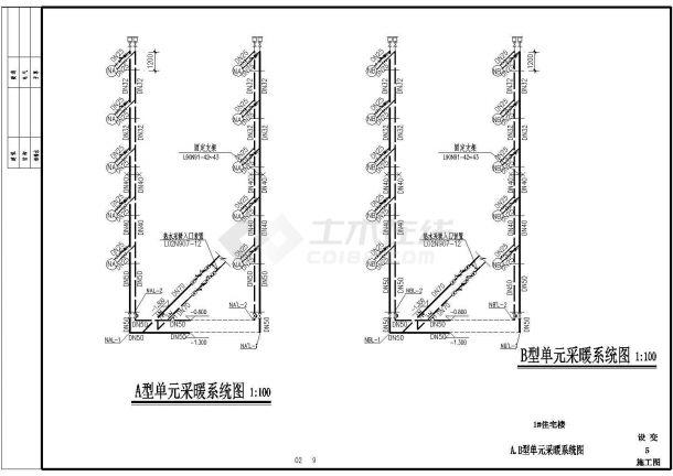 某地6层住宅小区地板辐射采暖全套施工图-图二