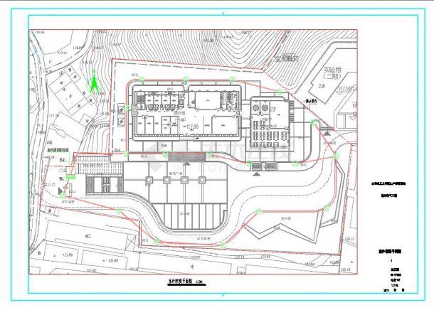 一个大学分校区景观照明电气设计图纸-图一