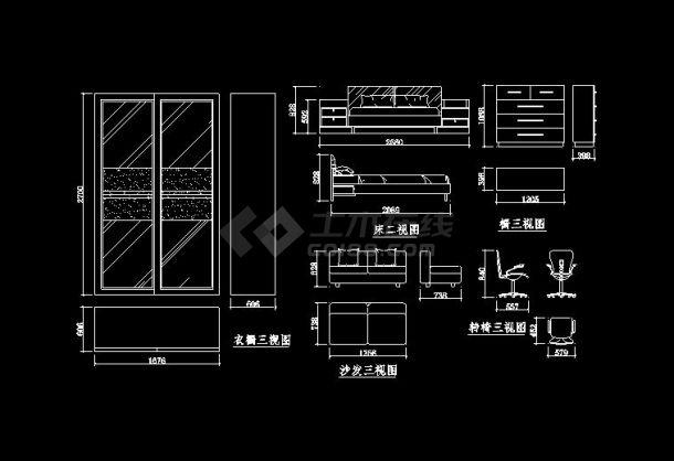 【2017最新整理】145套公寓装修设计图(标注详细)-图二