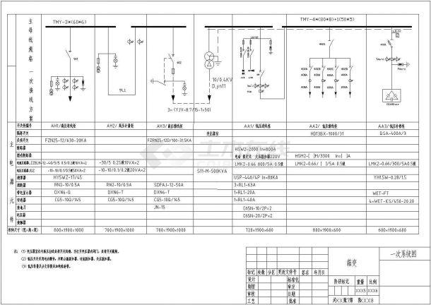 500kVA箱变临时用电工程系统图纸-图二