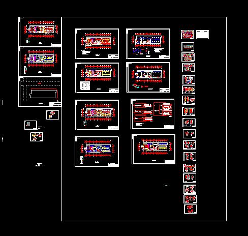 某酒吧装修设计CAD施工方案平面图-图一