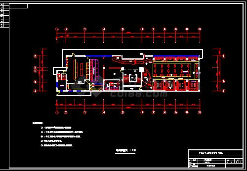 某酒吧装修设计CAD施工方案平面图-图二