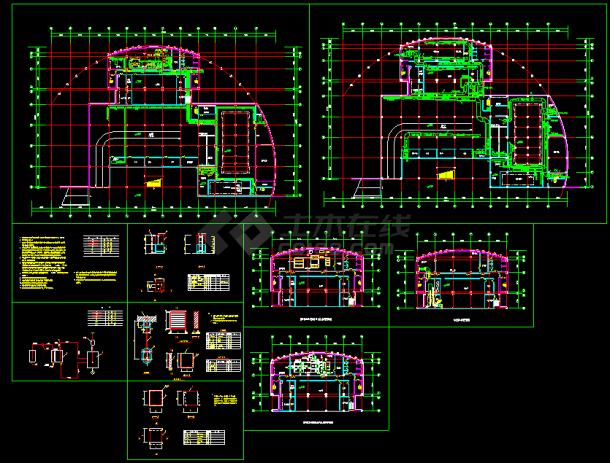 某住宅地下室中央空调全套cad设计施工图-图一