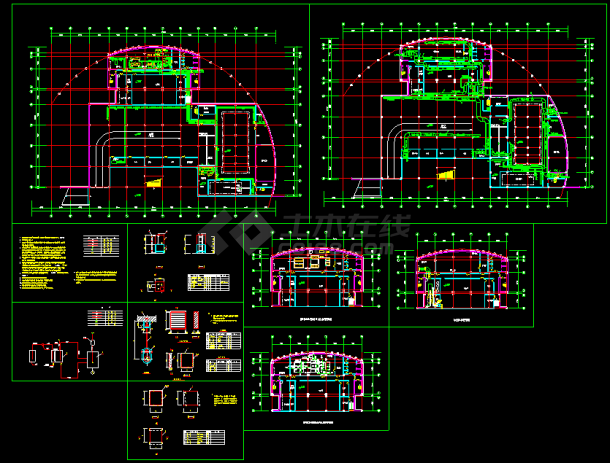 某市住宅地下室中央空调全套CAD平面设计施工图纸-图一