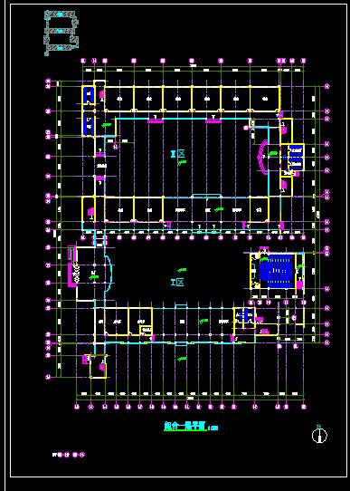 某县实验中学教学楼新校区公共教室建筑设计图-图二