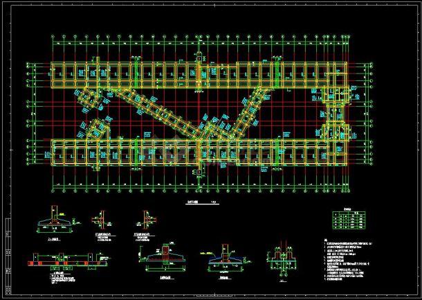 教学楼6层框架结构设计cad平立面施工图(含设计说明)-图二