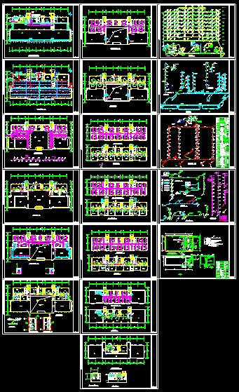 某地区办公楼溴化锂空调cad详细施工方案图纸-图一