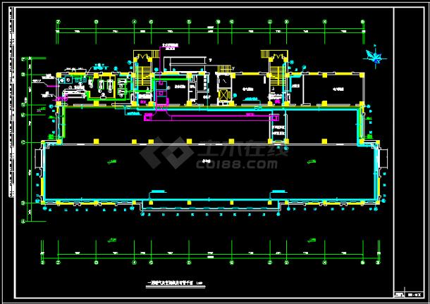 某地区办公楼溴化锂空调cad详细施工方案图纸-图二