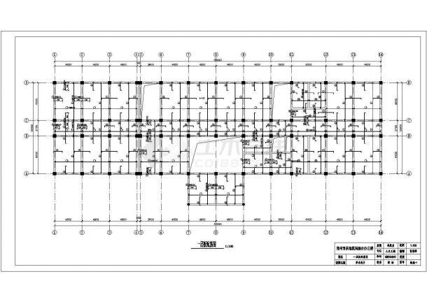 郑州某六层框架办公楼土木工程毕业设计图纸-图一
