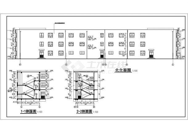 某地小学三层教学楼建筑设计方案图纸图片