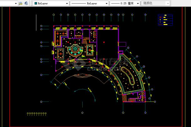 小型度假酒店装修设计方案全套CAD图纸-图二