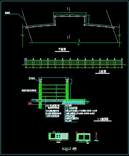 某小区围墙栏杆详细设计cad图块大集全-图二