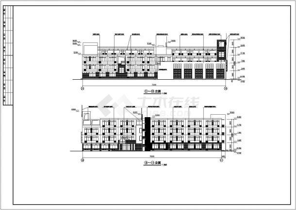 某小学四层教学楼建筑设计方案设计图纸图片