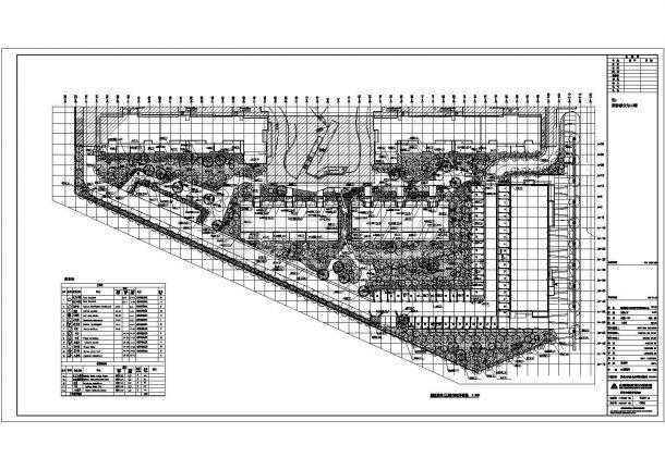某市万科金色家园景观植物配置总体平面规划图-图二