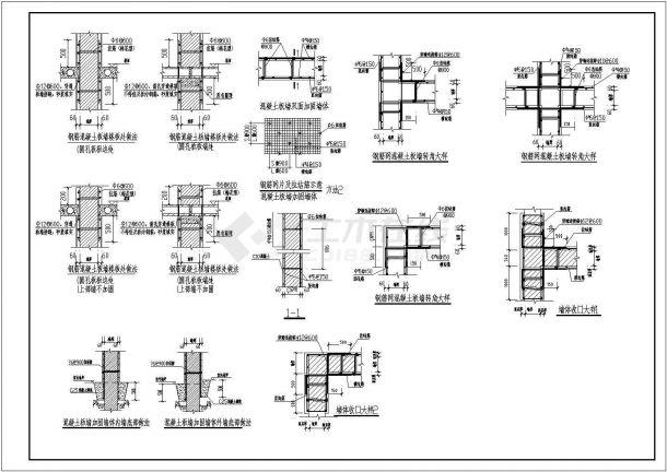 地震后开裂墙体、过梁加固施工结构详图-图二