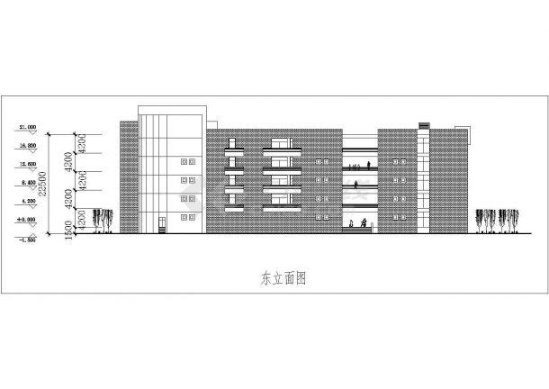 某地区大学教学楼建筑方案设计图纸图片