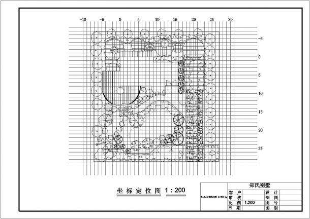 某小区的别墅景观绿化施工全套图纸-图二