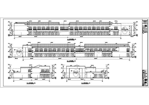 某地区二层商业街区建筑设计施工图-图一