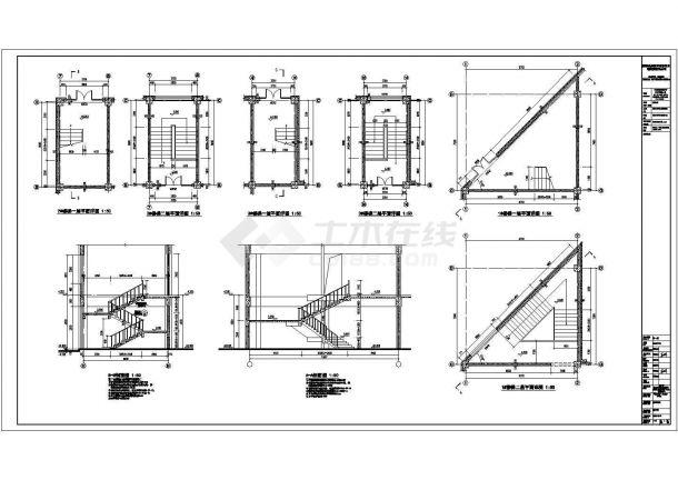 某地区二层商业街区建筑设计施工图-图二