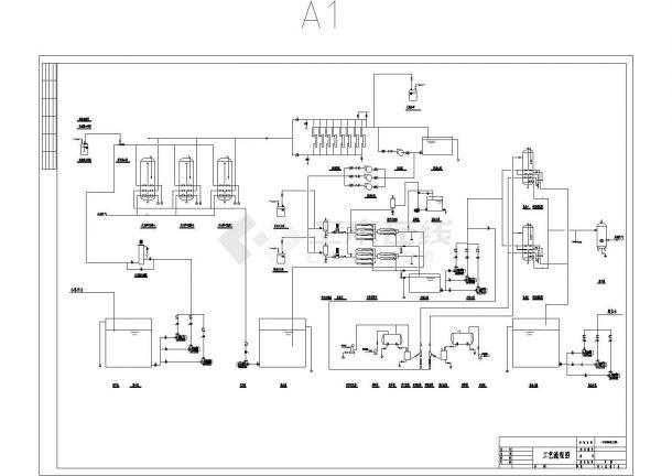 双膜法中水回用工艺流程图-图一