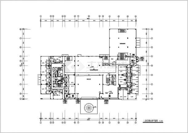 (宙辉大酒店)高层专业酒店暖通空调图纸-图二