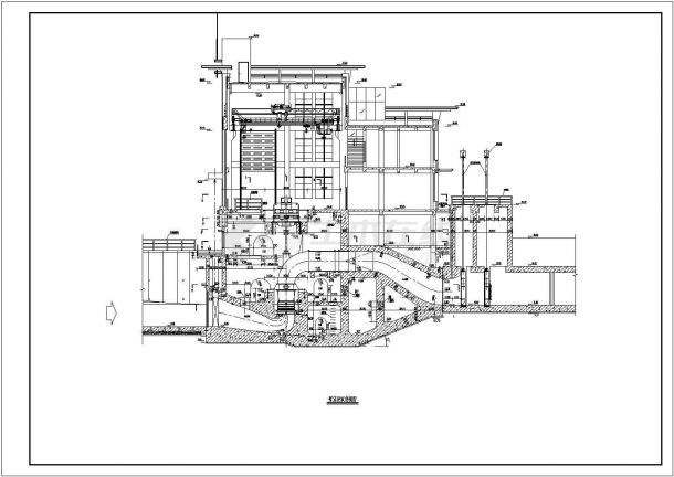 典型泵站平面及纵剖面图(共4张)-图一