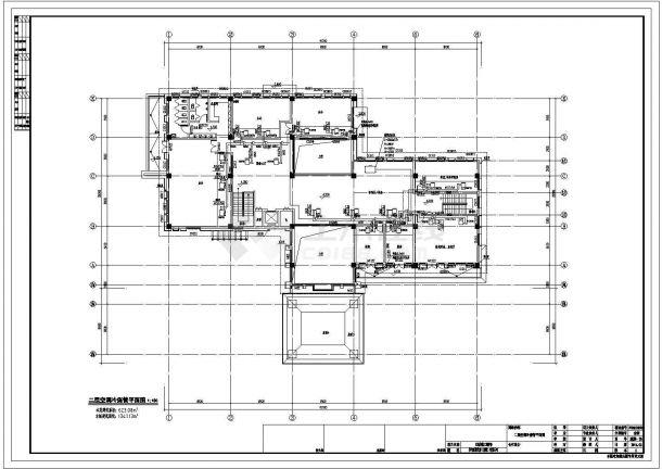 某地2层会所多联机空调系统和地板辐射采暖系统全套施工图-图一