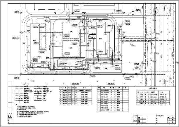 某自来水厂室外管线设计总图(管线综合)-图一