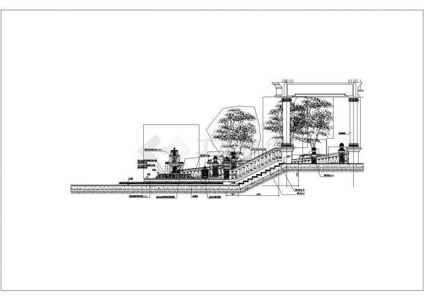 海口恒大御景湾景观工程园建铺装施工图-图二